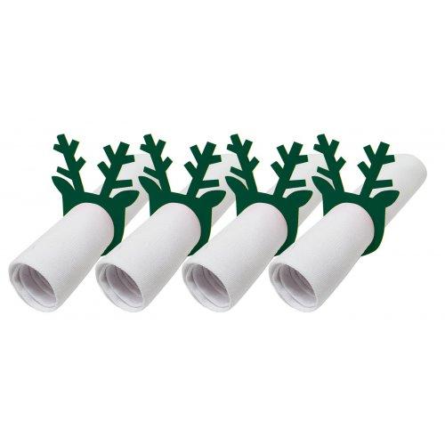 Pierścienie - obrączki na serwetki z filcu 4szt 792-26-02 Rogi zieleń butelkowa