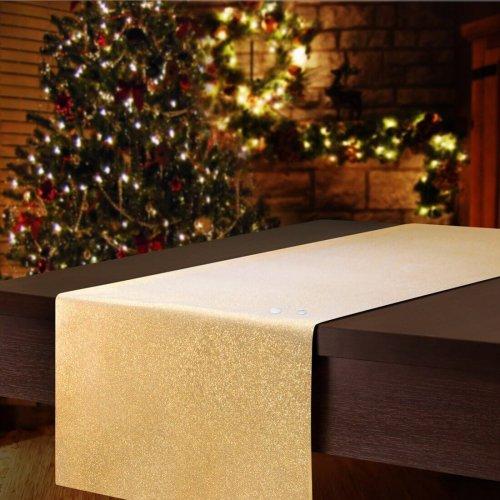 Bieżnik świąteczny gładki CHRISTMAS GOLD 458-63 złoty