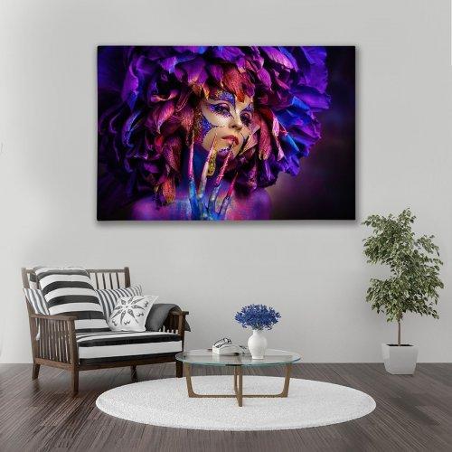 Obraz na płótnie CANVAS 120x80 A180 Kwiat purpury