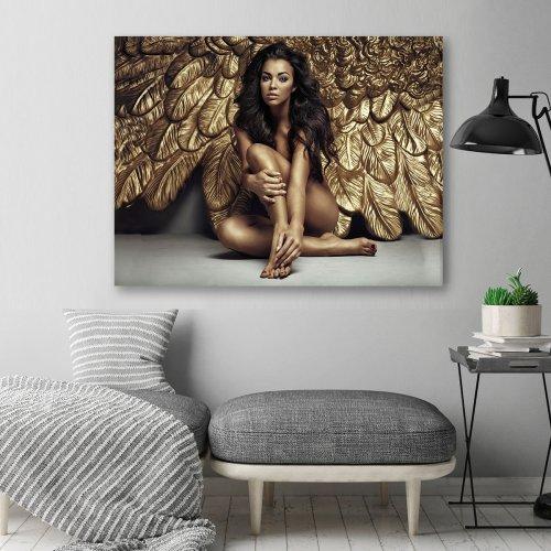 Obraz na płótnie CANVAS 80x60 C120 Kobieta anioł