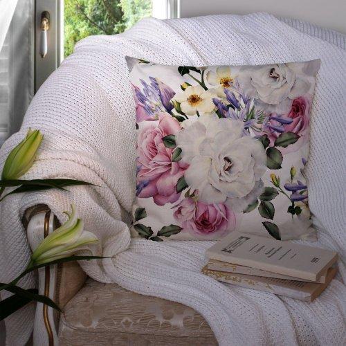 Poszewka dekoracyjna z drukowanej tkaniny kwiatowy wzór