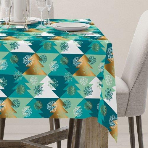Obrus świąteczny na stół D404-309-01 choinki