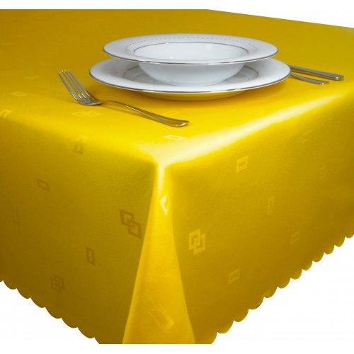 Obrus żakardowy 140x220 JACQUARD 111-05 żółty