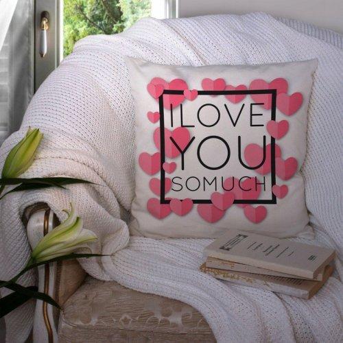 Poszewka na poduszkę WALENTYNKI 40x40 W101 I Love You