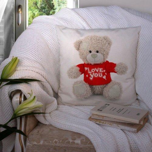 Poduszka na Walentynki 40x40 W103 Miś I Love You