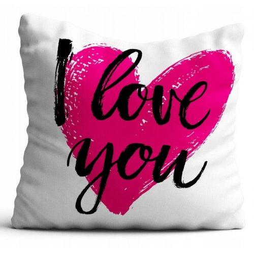 Poszewka na poduszkę WALENTYNKI 40x40 W104 I Love You