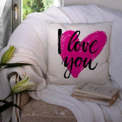Poduszka na Walentynki 40x40 W104 I Love You