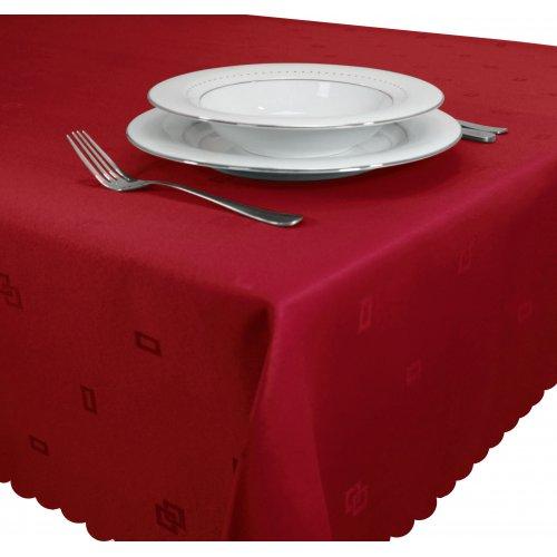 Obrus żakardowy 140x220 JACQUARD 111-12 czerwony