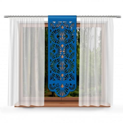 Firana Panel ażurowy na okno 48x140 850-15 chabrowy