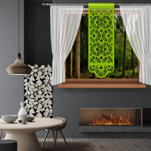 Firana Panel ażurowy na okno 48x140 850-24 seledynek