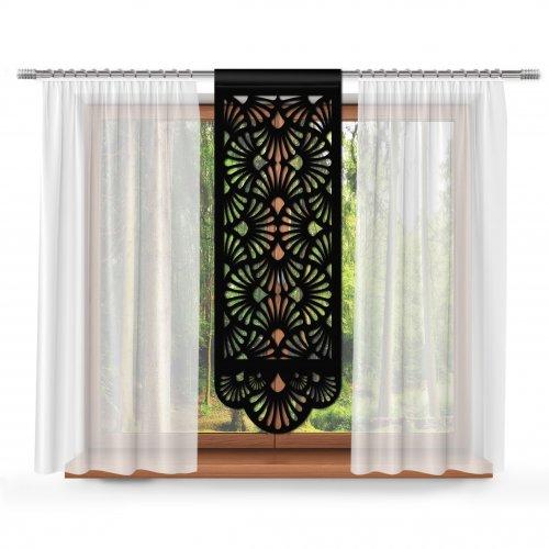 Firana Panel ażurowy na okno 48x140 850-34 czarny