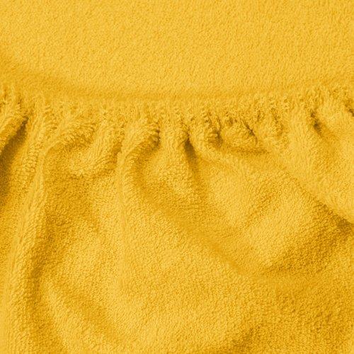 Prześcieradło do łóżeczka z gumką FROTTE HOME 194-05 żółty