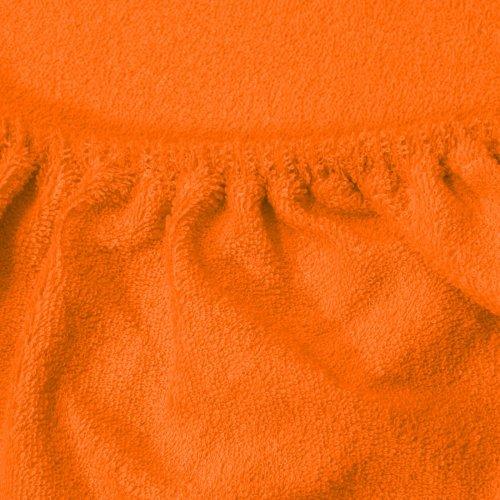 Prześcieradło do łóżeczka z gumką FROTTE HOME 194-06 pomarańczowy