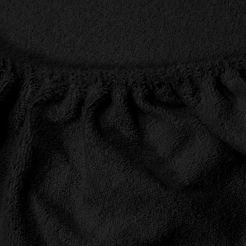 Prześcieradło do łóżeczka z gumką FROTTE HOME 194-34 czarny