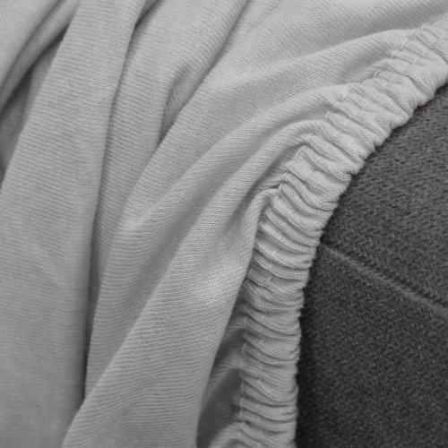 OUTLET Prześcieradło z gumką jersey Z FRANCJI 225-31 szary jasny 160x200