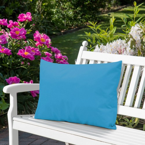Wodoodporna poduszka ogrodowa 50x70 434-38-101 lazur jasny