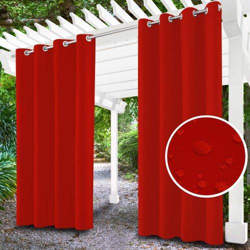 Zasłona ogrodowa do altany na przelotkach 434-10-99 czerwony jasny