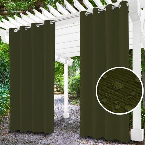 Zasłona ogrodowa do altany na przelotkach 434-18-40 khaki