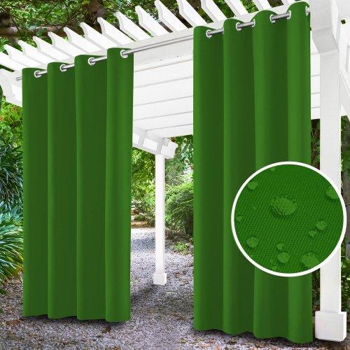 Zasłona ogrodowa do altanki na przelotkach 434-31-25 zieleń trawiasta