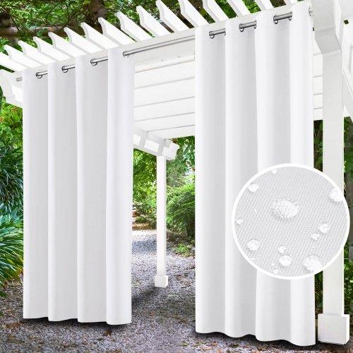 Zasłona ogrodowa do altany na przelotkach 434-33-01 biały