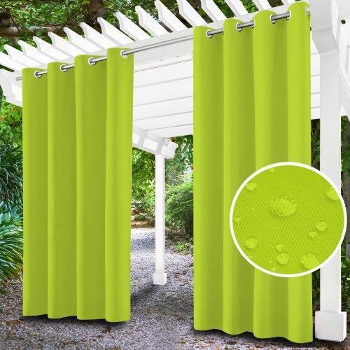 Zasłona ogrodowa do altany na przelotkach 434-35-96 limonka jasna