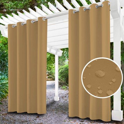 Zasłona ogrodowa do altany na przelotkach 434-37-57 latte