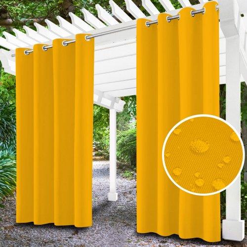 Zasłona ogrodowa do altany na przelotkach 434-40-05 żółty