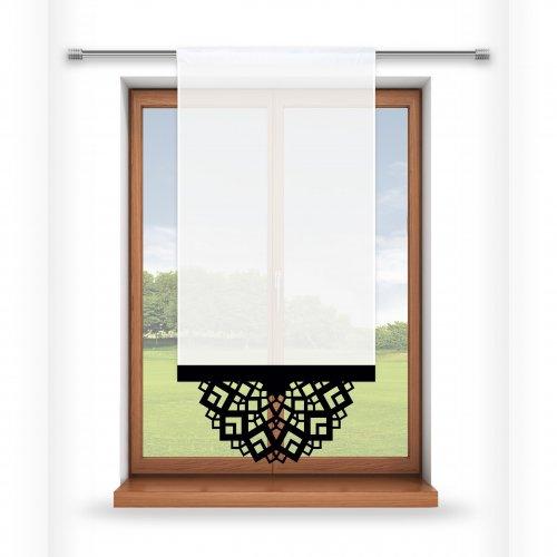 Firana panelowa do salonu z ażurem 797-34 w8 czarny