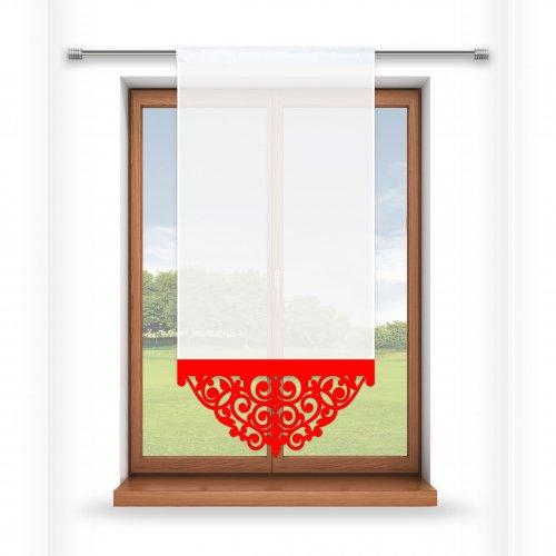 Firana panelowa do salonu z ażurem 797-12 w3 czerwony
