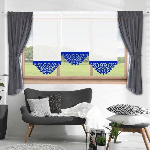Firana panelowa do salonu z ażurem 797-15 w3 chaber