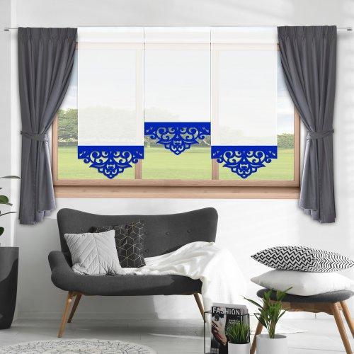 Firana panelowa do salonu z ażurem 797-15 w4 chaber