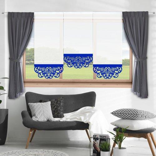 Firana panelowa do salonu z ażurem 797-15 w5 chaber