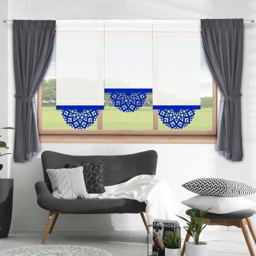Firana panelowa do salonu z ażurem 797-15 w8 chaber