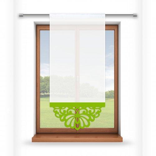 Firana panelowa do salonu z ażurem 797-24 w2 seledynek