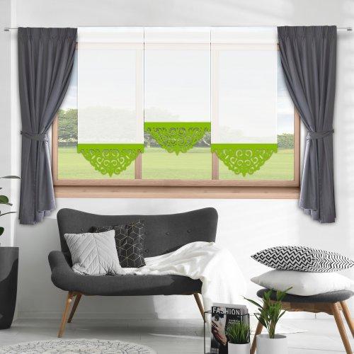 Firana panelowa do salonu z ażurem 797-24 w3 seledynek