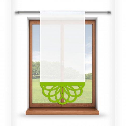 Firana panelowa do salonu z ażurem 797-24 w7 seledynek