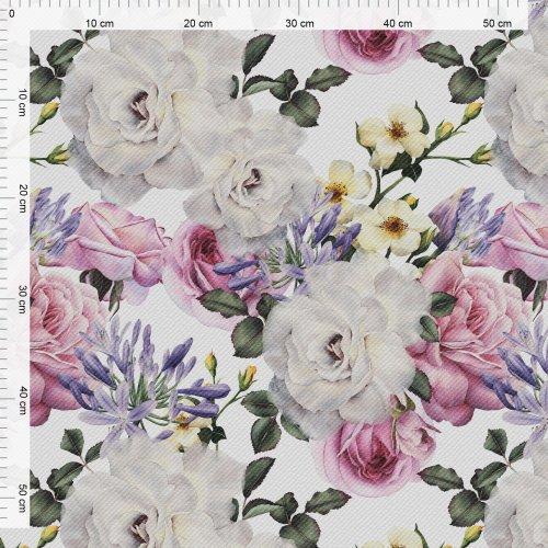 Obrus na stół ogrodowy wodoodporny D434-118 Kwiaty