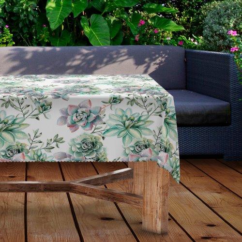 Obrus na stół ogrodowy wodoodporny D434-278 Sukulenty