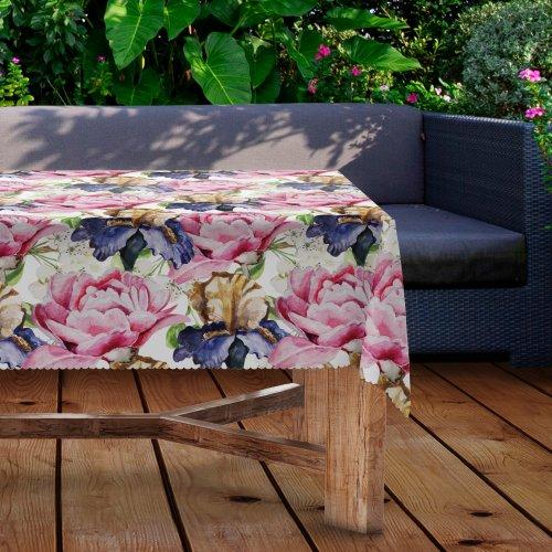 Obrus na stół ogrodowy wodoodporny D434-280 Kwiaty