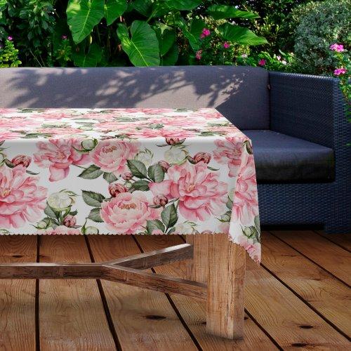 Obrus na stół ogrodowy wodoodporny D434-282 Kwiaty