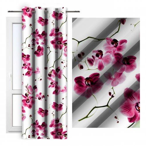 Zasłona dekoracyjna ORCHIDEE 140x250 181-87 róż