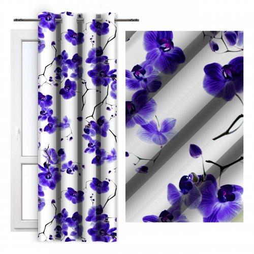 Zasłona dekoracyjna ORCHIDEE 140x250 181-18 fiolet
