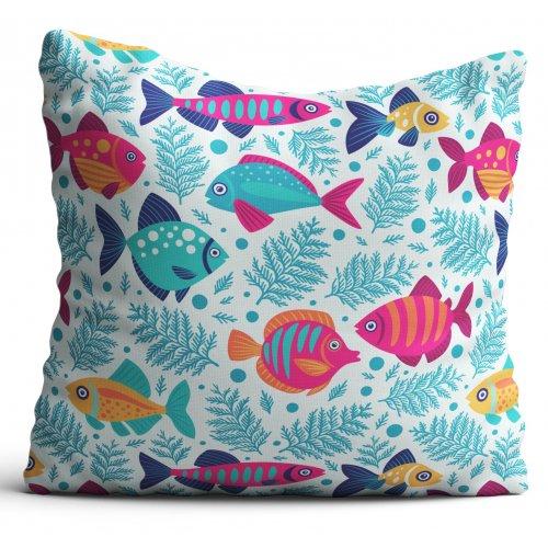 Poszewka dekoracyjna dla dzieci D404-339-01 rybki