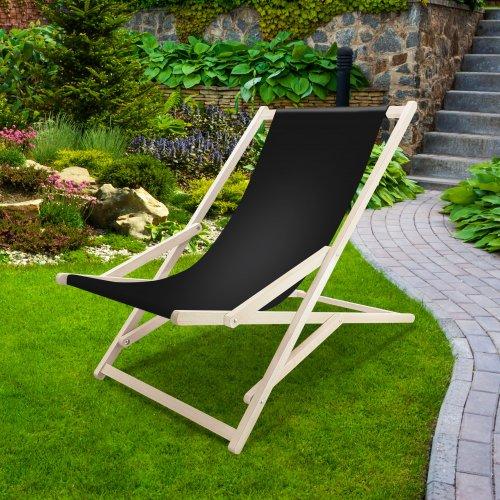Leżak drewniany bujany XXL Prestige 794 434-01-34 czarny