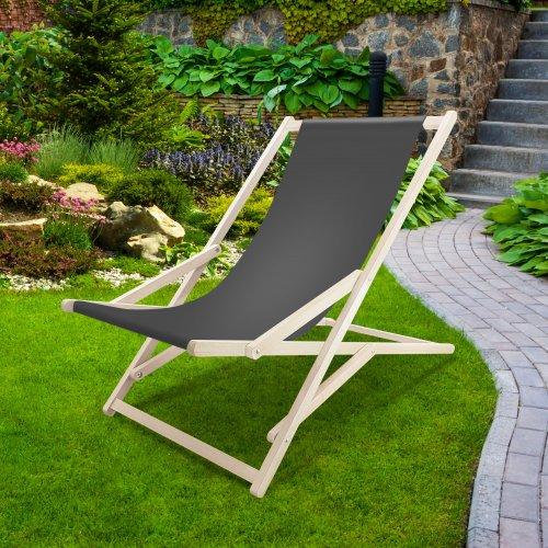 Leżak drewniany bujany XXL Prestige 794 434-02-62 grafitowy