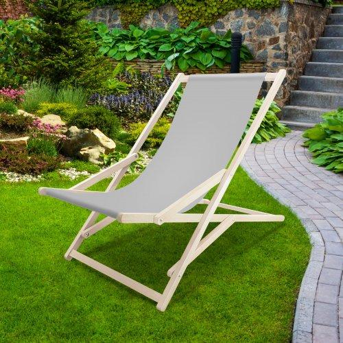 Leżak drewniany bujany XXL Prestige 794 434-03-31 szary jasny