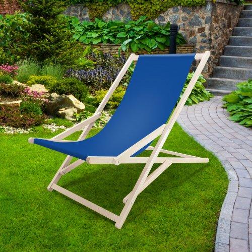 Leżak drewniany bujany XXL Prestige 794 434-05-15 chabrowy