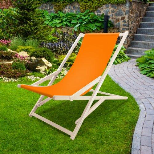 Leżak drewniany bujany XXL Prestige 794 434-08-06 pomarańczowy