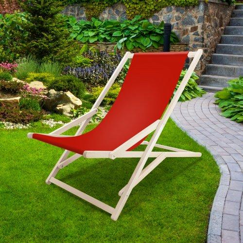 Leżak drewniany bujany XXL Prestige 794 434-10-99 czerwony jasny