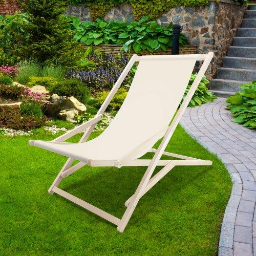 Leżak drewniany bujany XXL Prestige 794 434-16-02 ecru